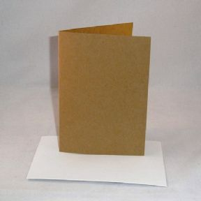 "5"" x 7"" Brown Kraft Greeting Card Blanks With Envelopes"